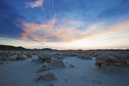 Usa,New Mexico,Bisti Wilderness Area,Cracked Egg Factory