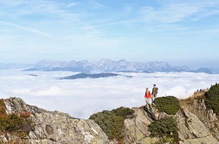 Austria,Steiermark,Reiteralm,Couple Of Hikers