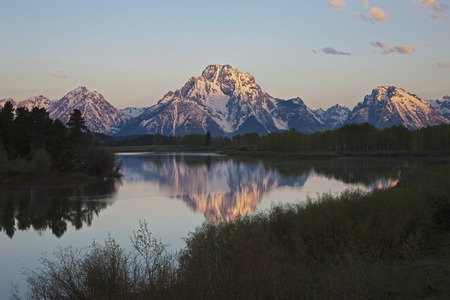 Usa,Wyoming,Oxbow Bend At Sunrise LANG_EVOIMAGES