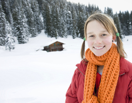 Italy, South Tyrol, Seiseralm, Portrait Of A Girl (12-13), Close-Up