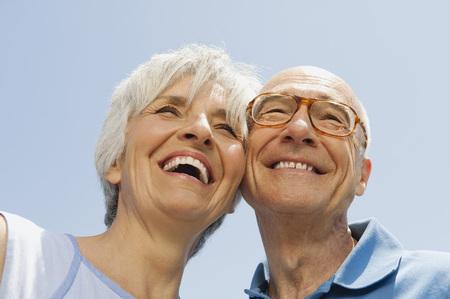 Senior Couple,Portrait,Low Angle View,Close-Up