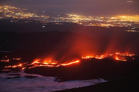 Italy,Sicily,Lava Flow From Etna Volcano