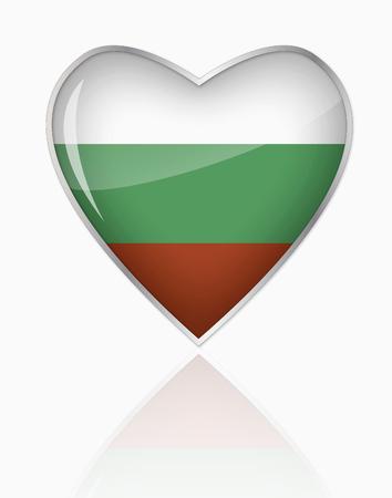 Bulgarian Flag In Heart Shape On White Background