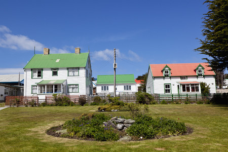 South Atlantic,United Kingdom,British Overseas Territories,East Falkland,Falkland Islands,Falklands,Stanley,Port Stanley,View Of Houses