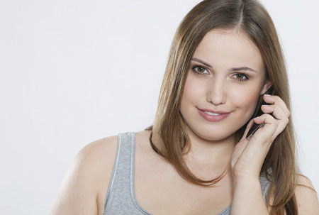 Young Woman On The Phone,Portrait