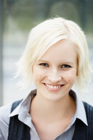 Germany,Bavaria,Munich,Young Woman Smiling,Portrait