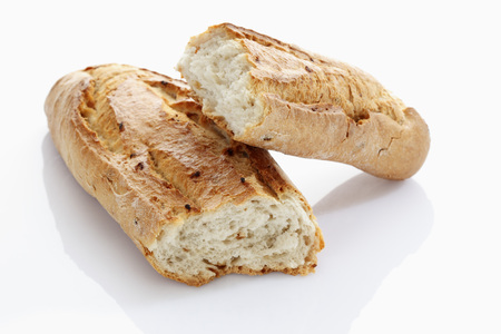Baguette On White Background,Close Up
