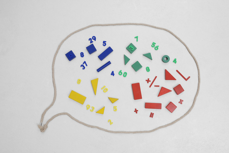 Geometric Shapes And Mathematics In Speech Bubble