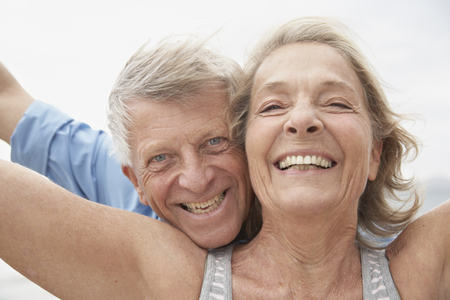 looking for love: Spain,Senior Couple Smiling,Portrait