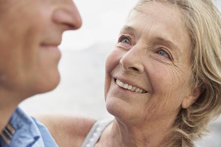 Spain,Senior Couple Smiling,Close Up LANG_EVOIMAGES