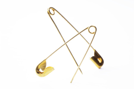 Golden Safety Pin