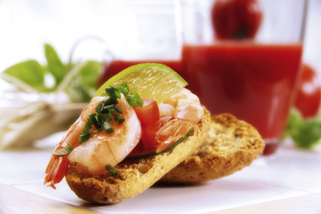 citrons: Crispbread With Shrimps