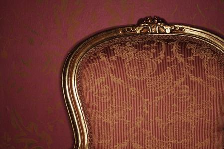 Ornate Antique Armchair, Close-Up LANG_EVOIMAGES