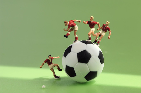 Toy Figurine Playing Football, Close-Up