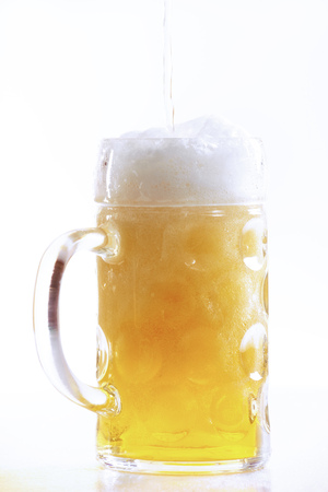 Pouring Beer Into Glass, Close-Up