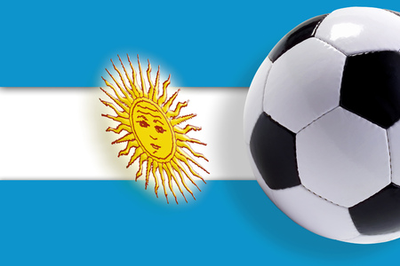 Soccer Ball Against ArgentinaS Flag