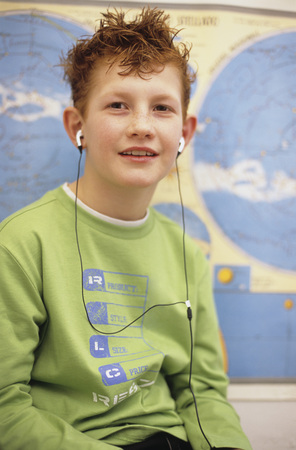 enquiring: Boy With World Map