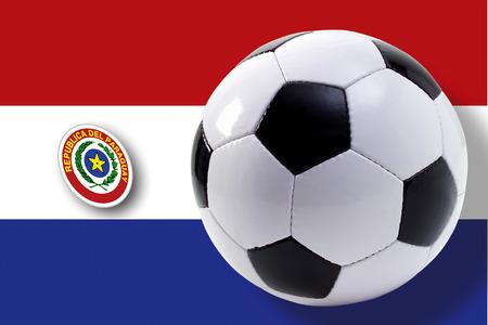 bandera de paraguay: Soccer Ball Against Paraguay Flag