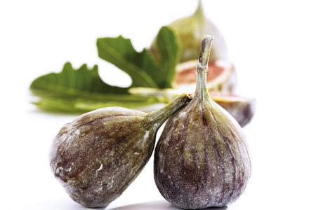 Fresh Figs And Fig Leaf