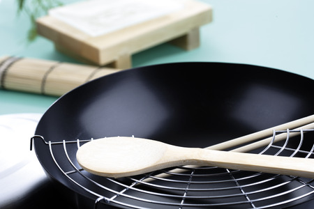 the footstool: Wok,Close-Up