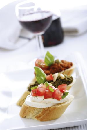 Bruschetta With Pesto,Italian Starters