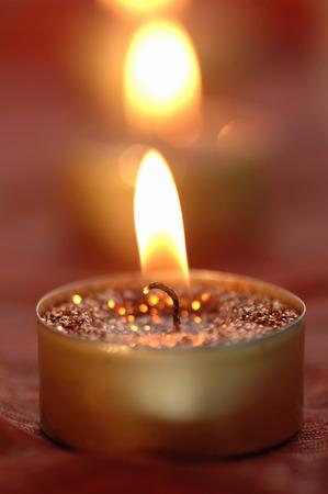 Burning Tea Lights, Christmas Decoration LANG_EVOIMAGES