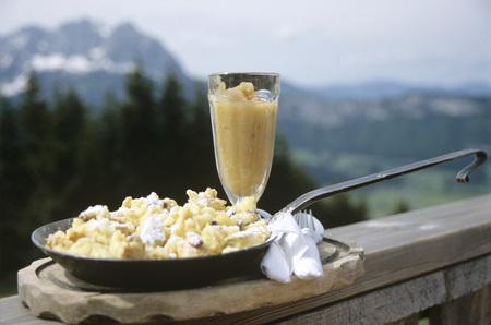 Austrian Kaiserschmarrn,Cut-Up Pancake With Raisins,Close-Up LANG_EVOIMAGES