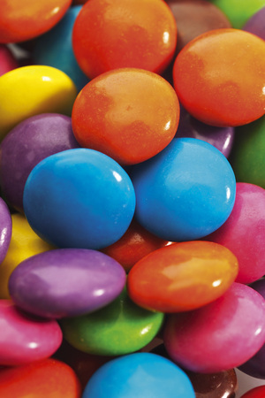 Colored Chocolate Candies,Close-Up,Full Frame