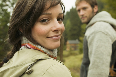 Young Couple, Focus On Woman