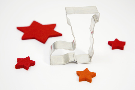 Boot-Shaped Cookie Cutter And Red Felt Stars