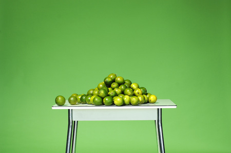 citrons: Limes On Table