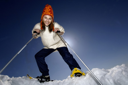 Woman Practising Wintersport, Portrait LANG_EVOIMAGES