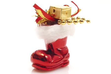 Santa Claus Boot With Gifts, Close-Up LANG_EVOIMAGES