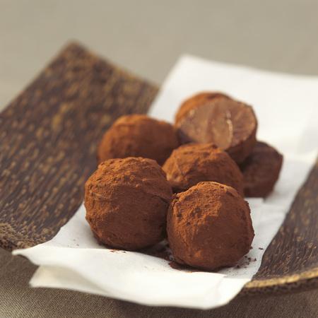 sweetly: Chocolate Truffles In Bowl