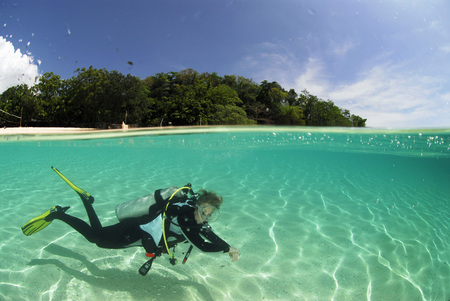 Philippines,Dalmakya Island,Diver In Water