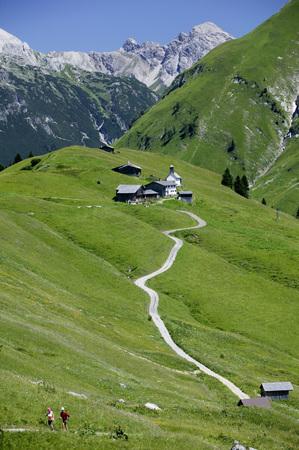 Colony In Austrian Alps (Walsersiedlung)