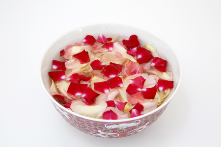 Rose Leaves In Bowl, Close-Up