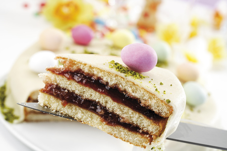 sweetly: Piece Of Marzipan Torte, Close-Up