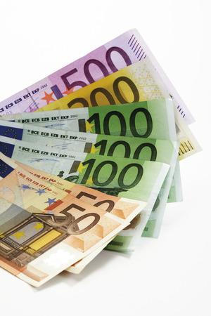 Euro Bank Notes, Close-Up