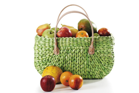 Fruits Inside And Outside Shopping Bag LANG_EVOIMAGES