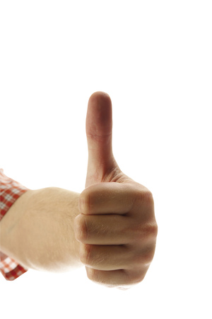 Hand Giving Thumbs Up, Close-Up
