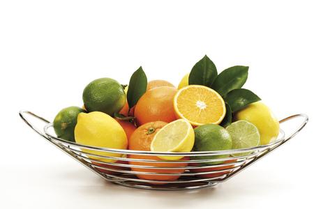 citrons: Various Citrus Fruits In Basket LANG_EVOIMAGES