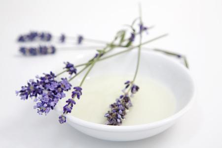 Lavender Flowers On Plate, Close-Up LANG_EVOIMAGES