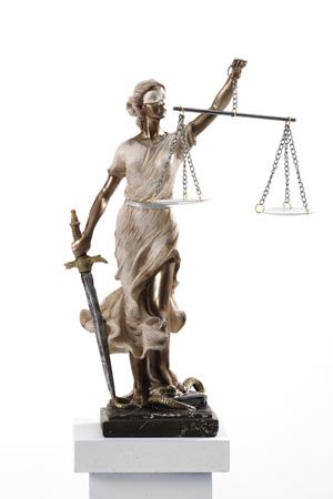 Justitia Figurine On Socket