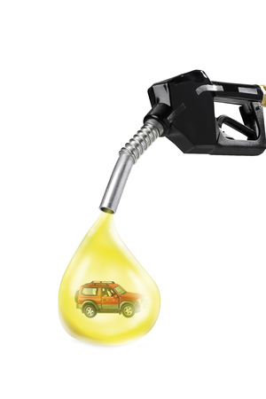 Nozzle And Oil Drop With Car