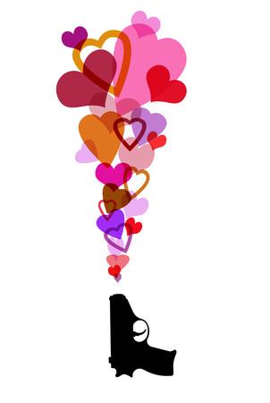 heartshaped: Pistol Shooting Pink Hearts LANG_EVOIMAGES