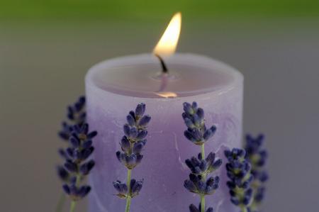 Burning Lavender Candle