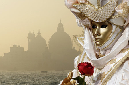 gloaming: Italy, Venice, Masked Person