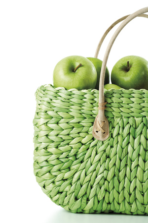 Apples In Shopping Bag, Close-Up