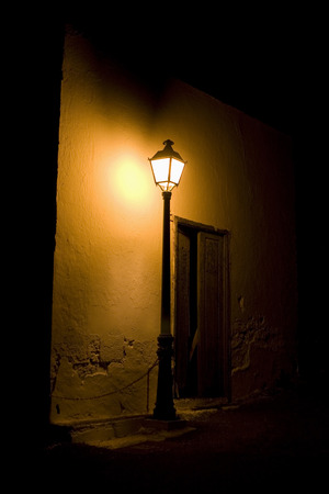 Spain, Lanzarote, Lantern In Front Of Building